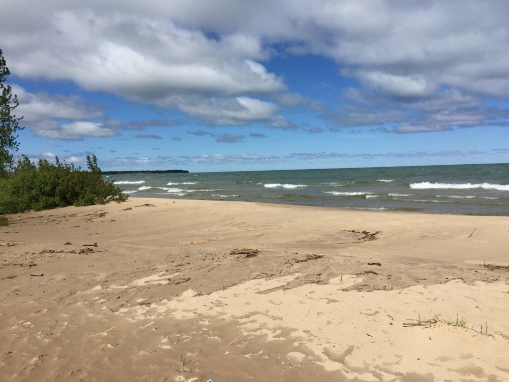 Lake Huron Was Angry Last Nite. Today Will Be Better.