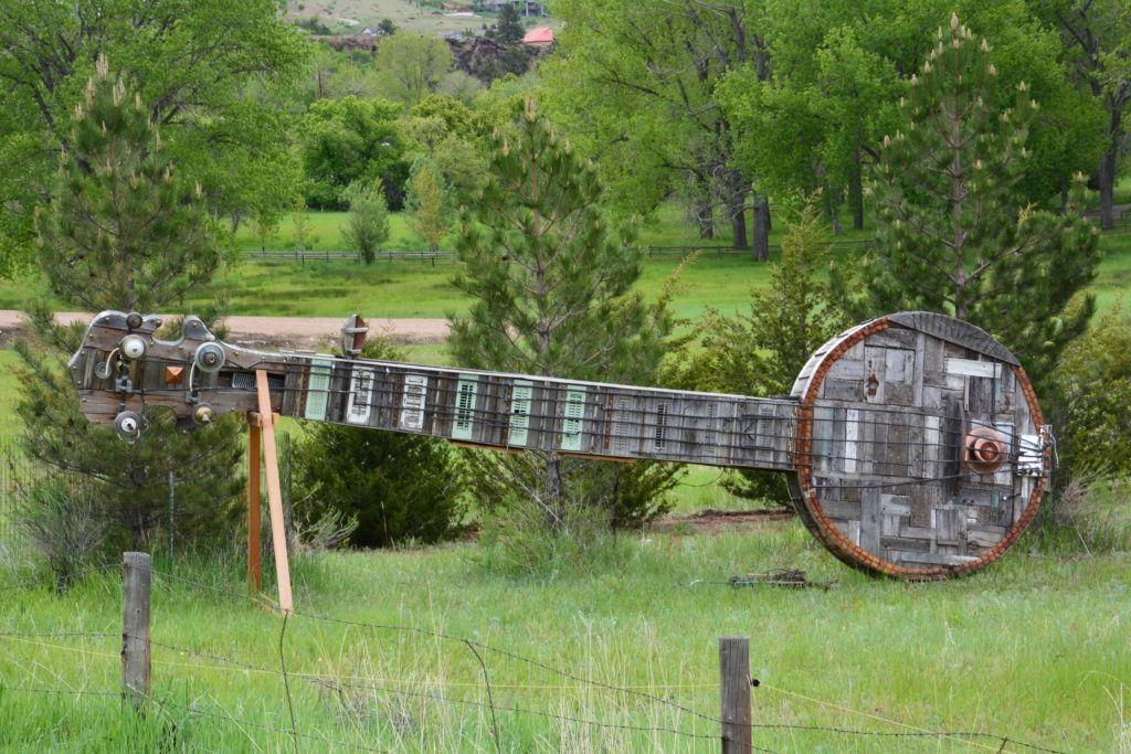 Giant Banjo Encountered In Colorado